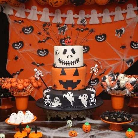1. Linda decoração para festa de Halloween – Foto: Francisca Frederico