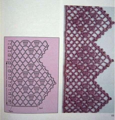 12. Gráfico de bico de crochê com pontas. Foto de Pinterest
