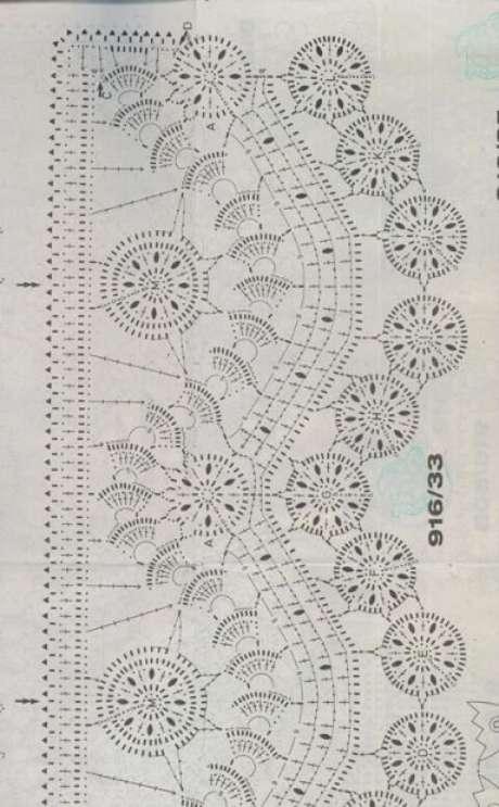 13. Gráfico de bico de crochê elaborado. Foto de Essas e Outras