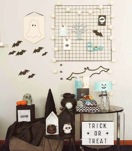 59. Decoração simples para festa de Halloween – Foto: Caraminholando