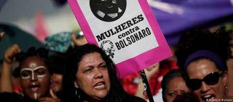 Brasília foi uma das cidades brasileiras onde ocorreram protestos contra o candidato Jair Bolsonaro