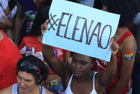 Manifestação de mulheres contra Bolsonaro em Brasília no último final de semana