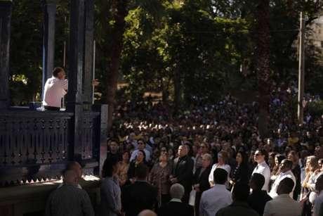Edir Macedo faz pregação em culto da Universal no Rio