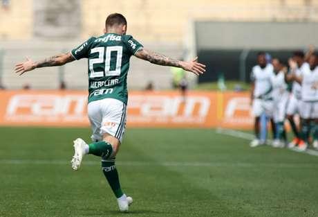 Lucas Lima abriu o placar para a vitória do Palmeiras por 3 a 1 sobre o Cruzeiro (Foto: Luis Moura/WPP/Lancepress!)