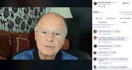 O líder da Igreja Universal do Reino de Deus, bispo Edir Macedo, afirma no Facebook que votará em Bolsonaro