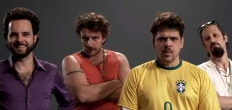 Raul Chequer, Leandro Ramos, Caito Mainier e Daniel Furlan no 'Choque de Cultura'.