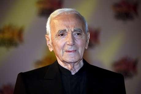 Cantor francês Charles Aznavour durante evento em Cannes, na França