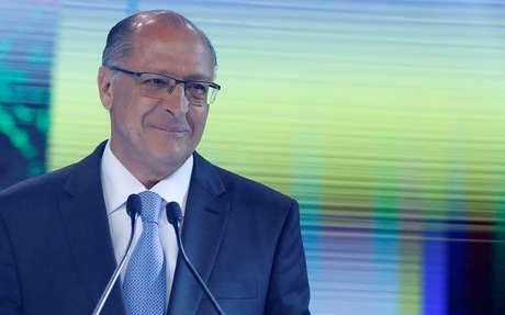 Alckmin durante debate na TV Record