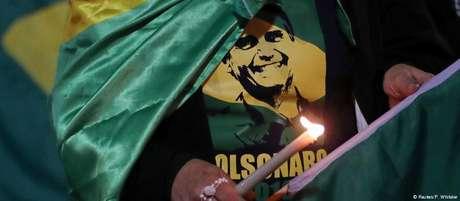Partidário de Bolsonaro em manifestação em Minas Gerais