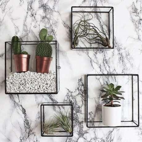 1. Existem vários modelos de prateleiras que você pode usar na sua casa. Foto de Pinterest