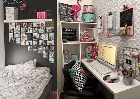 7. Reinvente as suas prateleiras para quarto. Foto de Pinterest