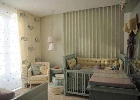 21- Na decoração de quarto de bebê masculino a cor harmoniza os vários elementos decorativos. Projeto: Danielly Bailão Moreira