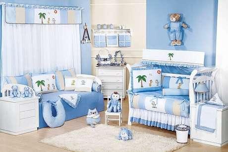 55- O quarto de bebê masculino tem como tema a floresta. Fonte: Blog Grão de Gente