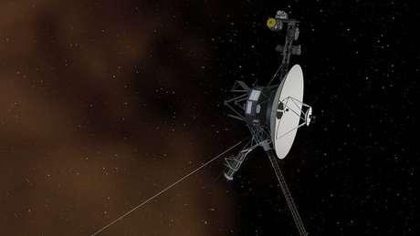 Uma ilustração do Voyager 1, o primeiro objeto criado pelo homem a alcançar o espaço interestelar