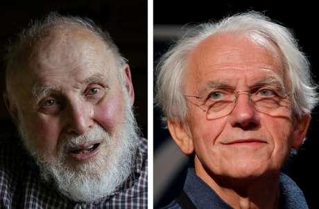 Arthur Ashkin (esq.) e Gerard Mourou dividem o Nobel com Strickland