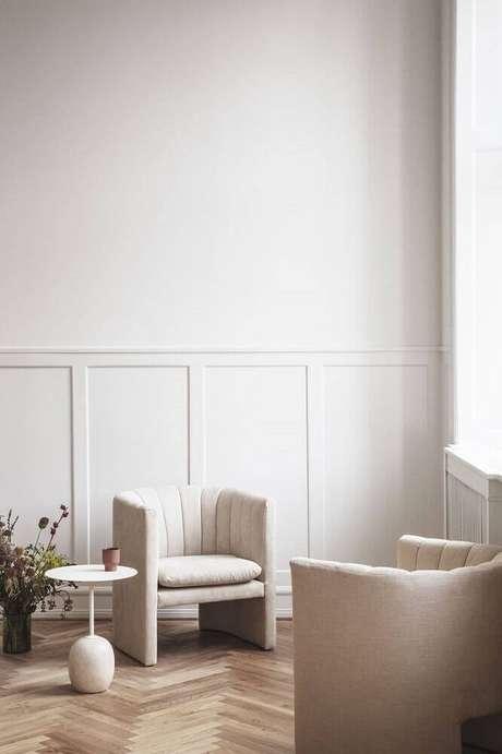 1. A moldura de parede pode valorizar a decoração dos ambientes – Foto: Haute Living