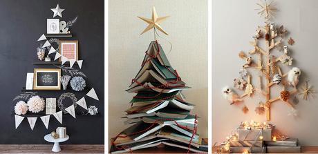 4. As árvoresde natal artesanais podem ser feitas com os mais diversos materiais,como prateleiras, livros e pedaços de madeira