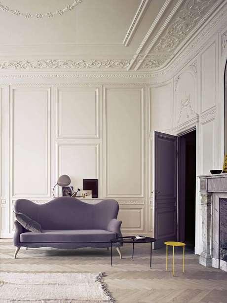 34. O boiserie gesso é muito utilizado em ambientes com estilo clássico – Foto: Made In Design