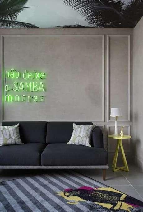 3. Prefira o boiserie com linhas mais retas e simples para a decoração de ambientes com estilo moderno – Foto: Melina Romano