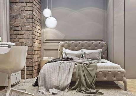 52. O boiserie também pode ser usado em ambientes com decoração rústica – Foto: Pinterest