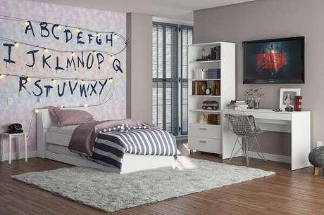 4- Decoração de quarto grande para jovem. Imagem:Politorno