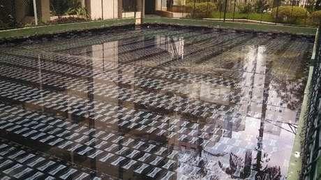 O teste de estanqueidade garante a eficiência da manta impermeabilizante para laje. Fonte: JRCor