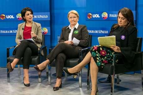 Manuela D'Ávila, Ana Amélia e Kátia Abreu em debate promovido pela Folha