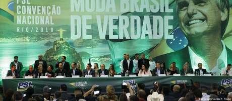 Convenção do PSL em julho no Rio: sigla ganhou destaque em janeiro após a filiação de Bolsonaro
