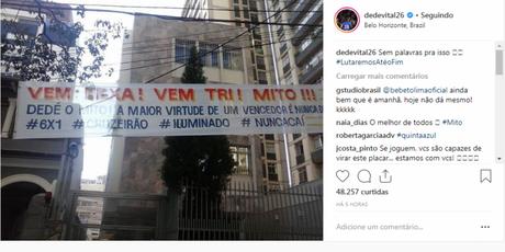 Dedé foi um dos contemplados com uma mensagem de incentivo- Reprodução-Instagram