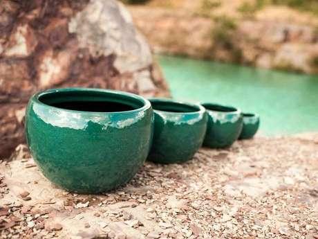 9. Esses lindos cachepots de cerâmica podem facilmente ser usados de várias formas na decoração. Foto de Terra Asia
