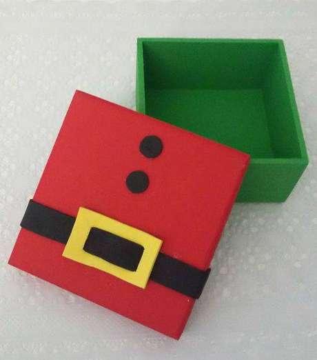 10- Faça você mesmo uma caixinha de lembrancinha de natal