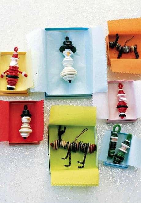63-Enfeites para árvore de natal também podem ser usados como lembrancinha de natal. Fonte: Pinterest