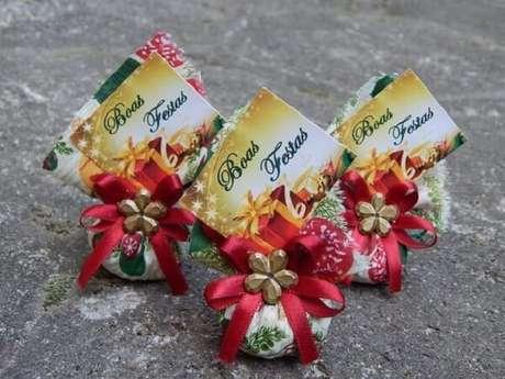 61- Sachê perfumado para lembrancinha de natal. Fonte: Pinterest