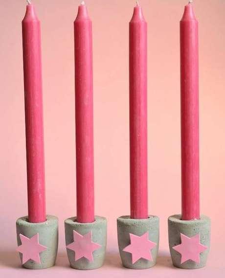 39- Porta vela de cimento para natal