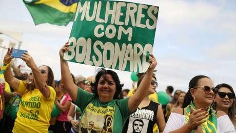 Entre o público feminino, Jair Bolsonaro tem 27% das intenções de voto, segundo pesquisa Datafolha