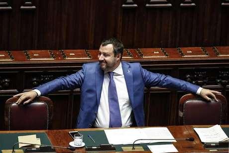 Matteo Salvini durante audiência na Câmara dos Deputados