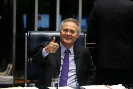 O senador Renan Calheiros, quando presidia a Casa Alta