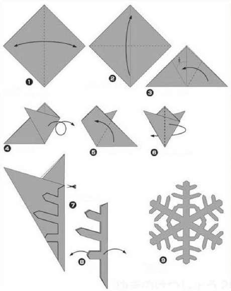 20. Como dobrar papel para fazer flocos de neve – Foto: Baby Mandarina
