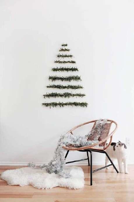 36. Decoração estilo escandinava com enfeites de natal para parede – Foto: Handbox