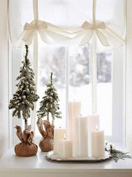 54. Linda decoração clean com enfeites de natal super delicados – Foto: Pinterest