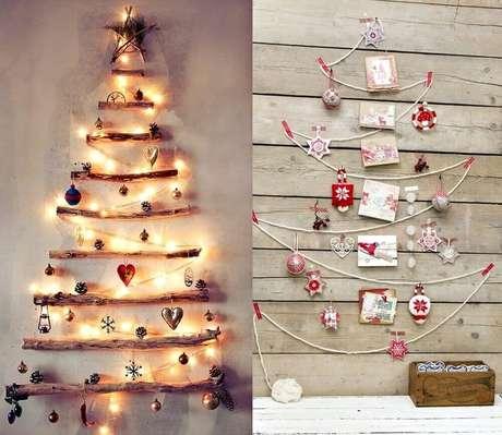 5. Lindas ideias de enfeites de natal feitos na parede – Foto: DecorateMe
