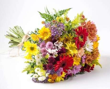 1. As flores do campo são bem coloridas e por isso podem dar mais cor ao seu lar. Foto de Isabela Flores