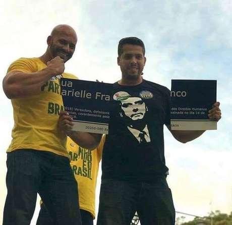 O candidato a deputado estadual no Rio Rodrigo Amorim (PSL), que quebrou uma placa de homenagem a Marielle Franco, vereadora do PSOL assassinada em 14 de março, foi eleito