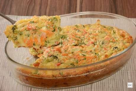 Torta de legumes com queijo de liquidificador