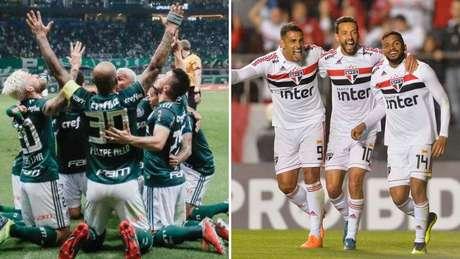 Os calendários de Palmeiras e São Paulo são os mais difíceis entre os times do G6