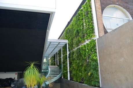 57. Jardim vertical em muro. Projeto de Vital Paisagismo