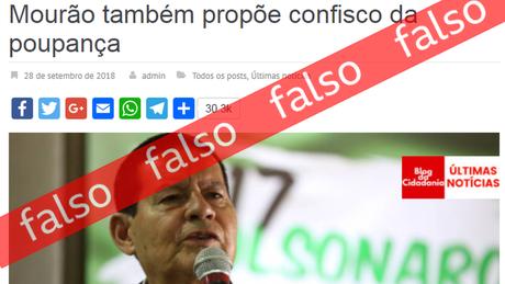 General Mourão fake news