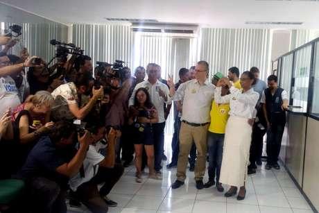 Marina Silva, candidata à Presidência da República pelo Rede, votou na sede do Incra, em Rio Branco, no Acre, na manhã deste domingo, 7