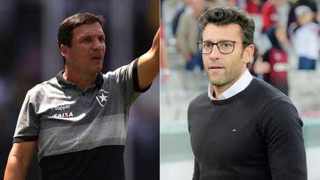 Zé Ricardo e Alberto Valentim dirigem, atualmente, Botafogo e Vasco, e reencontram com ex-clubes (Arte Lance!)
