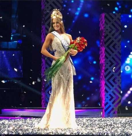 A Miss Colombia 2018 Valeria Morales, que criticou a participação de uma trans nesse tipo de concurso